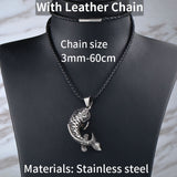 316L Stainless Steel Koi Fish Necklace Pendant