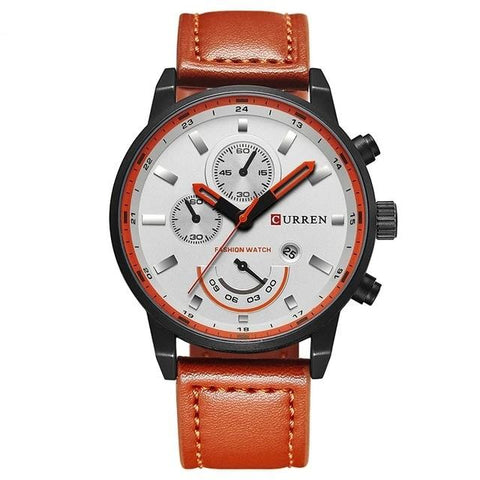 2020 Men's Casual Sport Quartz Leather Military Watch For Mens