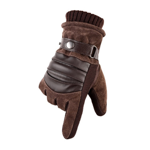 Touch Screen Winter Warm Men's Genuine Leather Casual Gloves