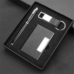 A Set of Pen Key Holder with Multi High Quality Pop Up Business Card Wallet