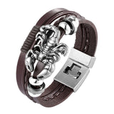 New Punk Multilayer Poker Leather Bracelet