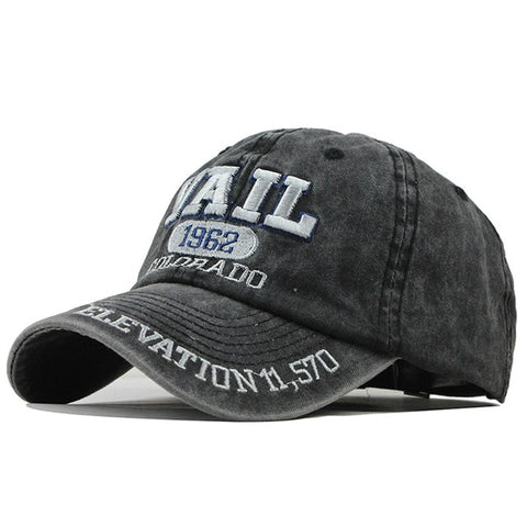 New Washed Cotton Snapback Cap For Men and Women