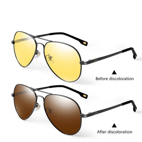 Classic Day And Night Driving Yellow Photochromic Sunglasses For Men