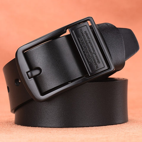 Luxury cow genuine leather belt for men