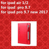 Leather Case Flip Wallet For iPad mini 1/2/3/4 iPad Air 1/2/ pro 9.7inch/10.5'' iPad pro NEW 2017