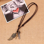 High Quality Genuine Leather Handmade Male Retro Charming Resizable Necklace