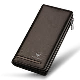 Genuine Leather Luxury Brand Wallets Long Men Purse