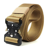 New Men Breathable Military Tactical Belt Alloy Metal Double Buckle Adjustable