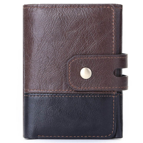 Luxury Fashion 100% Cow Leather Bifold Short Wallet