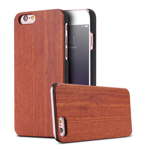 Real Wood Case For Samsung Galaxy S8 S9 Plus &  For iPhone X 8 7 6 6S Plus