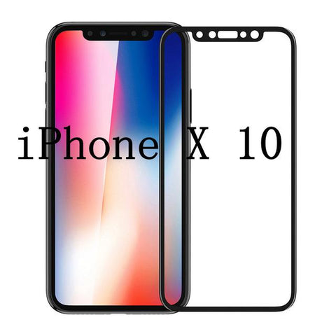 New Generation 6D Full Screen Protector Carbon Fiber Tempered Glass for iPhone X 7 8 Plus