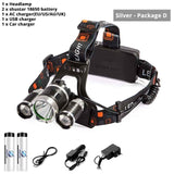Super Bright Waterproof LED Headlamp 4 Lighting Modes