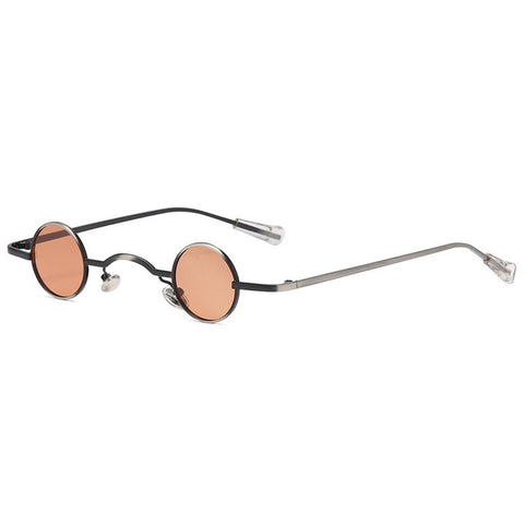 Small Round Steam Punk Polarized UV400 Sunglasses Vintage Alloy Frame