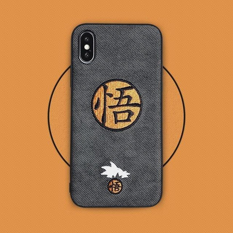 Goku Embroidery Case For iPhone X XS XR XS Max 11 Pro Max