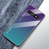 Gradient Glass Back Case for Samsung Galaxy S10 Plus S10 S10E With Silicon Frame