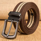 Military Tactical Canvas Belts with Metal Pin Detachable Buckle
