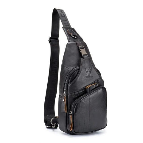Fashion Genuine Leather Chest Bag for Men