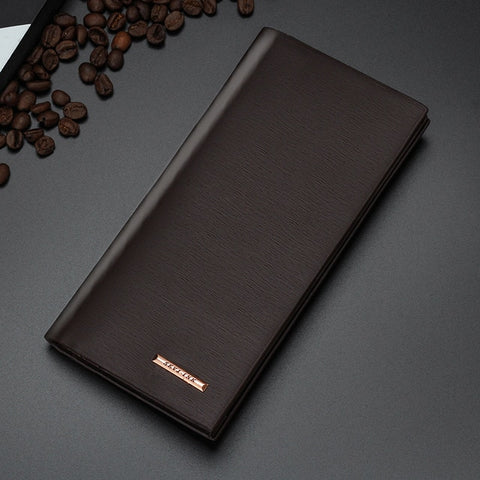 New Long Genuine Leather Fashion Business Slim Wallet
