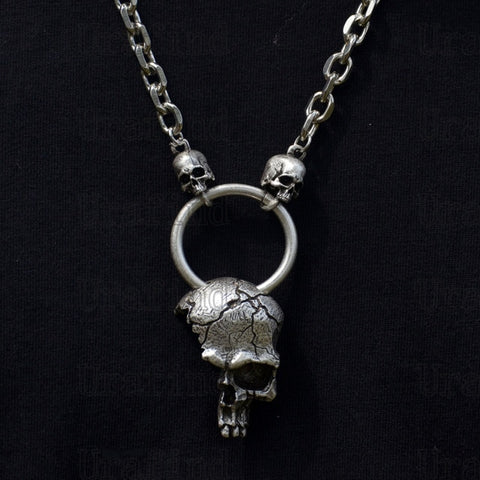 3D Skull Celtics Fox Thor Hammer Pendant Nordic Viking Necklace