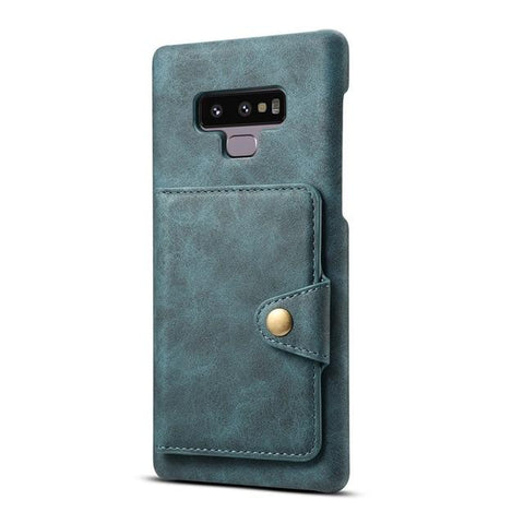 Multifunction Card Slot Leather Stand Back Cover Case for Samsung Galaxy Note 9