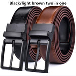 Men's Leather Belt Classic & Fashion Design with Rotating Buckle