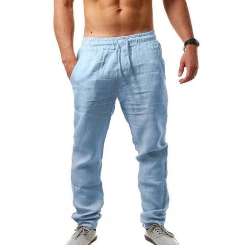 2020 Men Cotton and Linen Full Length Lightweight Trouser