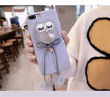 Cute OWL Luxury Cases For iPhone 6 7 8 X