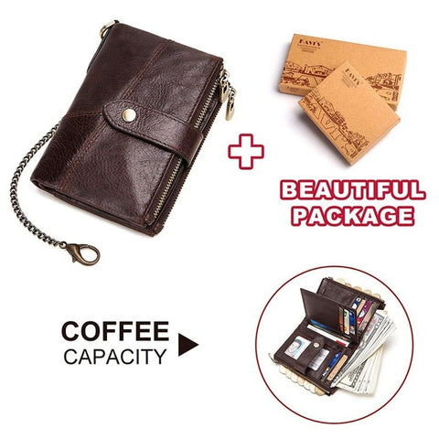 100% Genuine Leather Wallet High Capacity