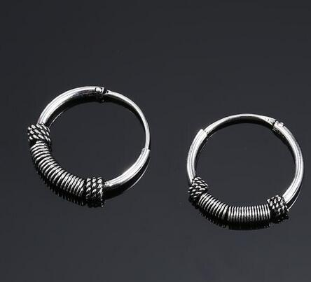 European Bali Ball Endless Circle Drop Earring