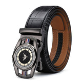 Top Quality Genuine Leather Strap Belt For Men Automatic Buckle
