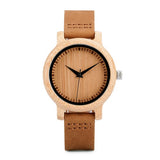 Stylish Wooden Bamboo Quartz Wristwatch