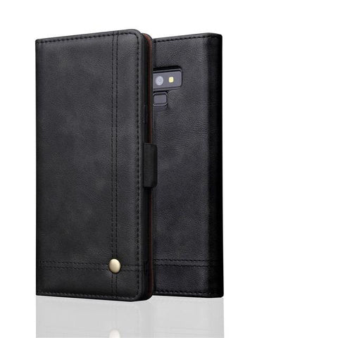 Luxury High Quality Vintage Leather Flip Cover Wallet Case For Samsung Galaxy Note 9