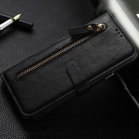 2 in 1 Magnetic Pocket Detachable Leather Case for iPhone XR XS Max
