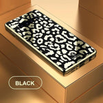 Plating Glass Leopard Print Case For Samsung Galaxy S9 Plus S10 Plus S10e Note 9