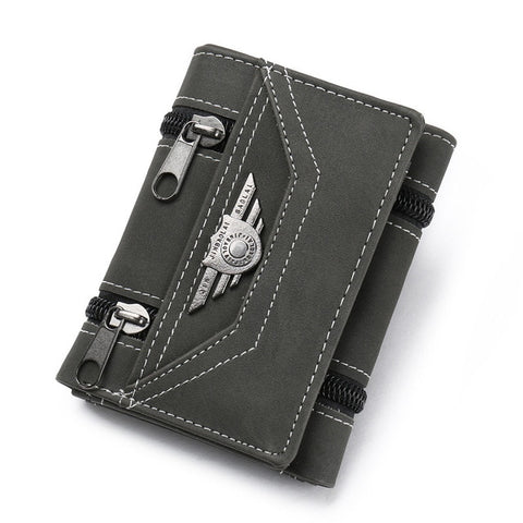Fashion Vintage PU Leather Rivets Wallet for Men