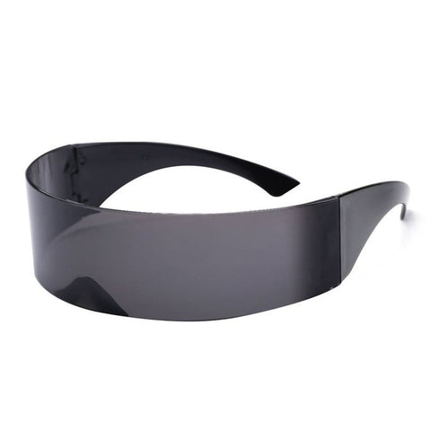 Funny Futuristic Wrap Around Monob Costume Sunglasses