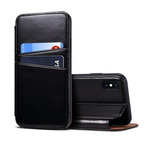 New Luxury Business Style Genuine Leather Case for iPhone 8 8 Plus X XS
