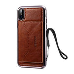 2018 New Luxury Leather Case For Apple iPhone X 7 8 Plus