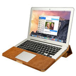 Leather Stand Case For MacBook Air Pro Retina 11 12 13 15 inch