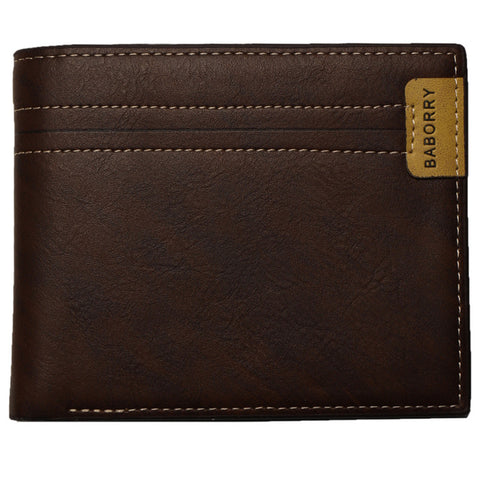 Men Stylish Bifold Business PU Leather Synthetic RFID Wallet With Card Holder
