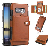 Retro PU Leather Pocket Case For Galaxy S9 S9 Plus Note 9 Note 8