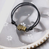 New Fashion Letter A~Z and Bronze Footprints Charm Bracelet Handmade Rope Chain