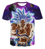 Dragon Ball Z Ultra Instinct Son Goku Super Saiyan Men Tshirt 3D Printed
