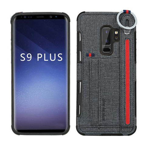 Card Pocket Back Case for Samsung Galaxy S8 S9 S10 Plus Note 8 Note 9