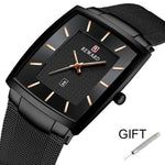 Sport Business Waterproof Slim Mesh Military Quartz Wristwatche For Men