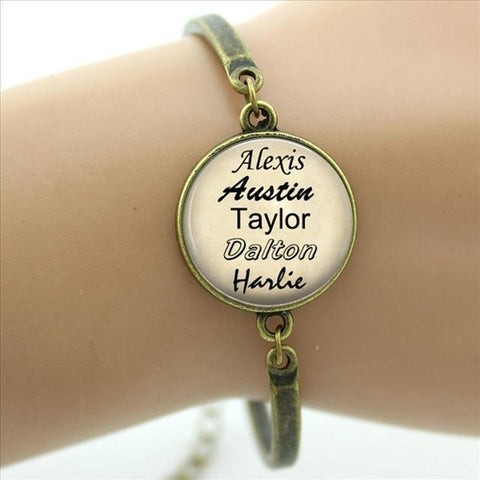 Personalized jewelry custom your family names bracelet gift for family friend