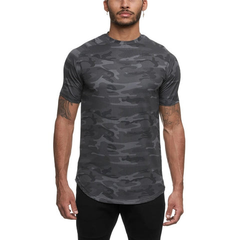 2020 Camo Workout Sport Shirt Short Sleeve