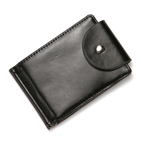Fashion Slim Leather Zipper Wallet