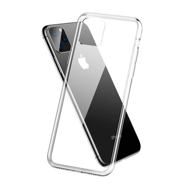 6D Curved Crystal Transparent Phone Case for iPhone 11 Pro Max