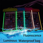 wangcangli Universal swim waterproof phone pouch cover fluorescent for iPhone for xiaomi Mobile waterproof case cases Bag